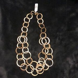 """Kenneth Jay Lane 20"""" Gold Chain Link Necklace New"""
